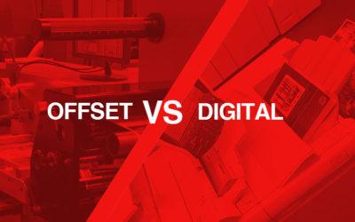 Offset printing versus digital printing